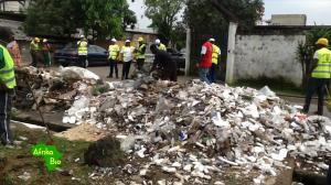 Un gros tas d'ordures au lieu-dit Ngodi au quartier Akwa à Douala Photo Mathias Mouendé Ngamo