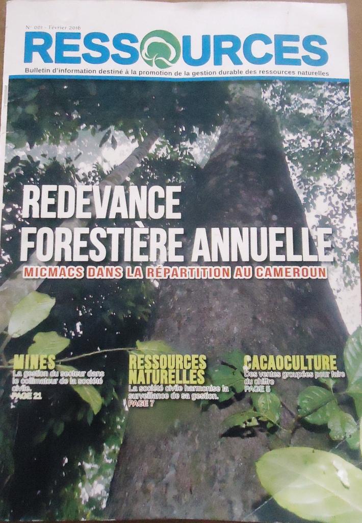 La Une du premier numéro de Ressources.