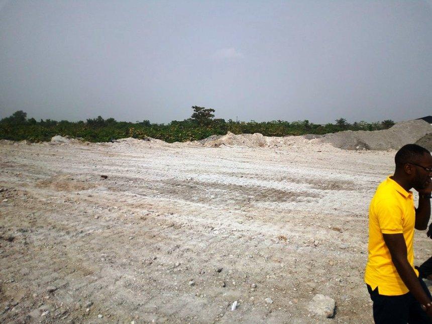 Bonabéri, 26 janvier 2018. Une vue du site qui abritera le centre de transfert des déchets..