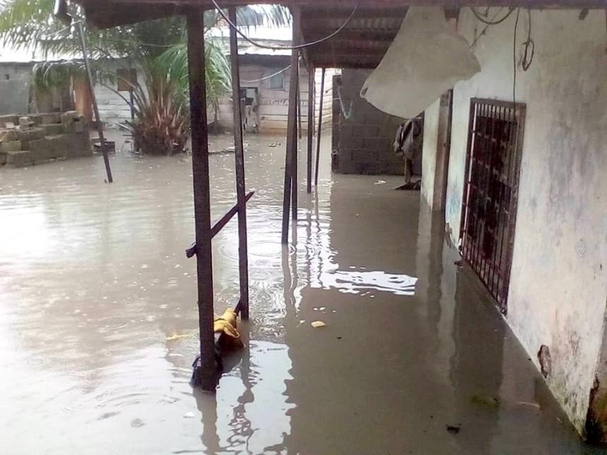 Inondation au lieu dit Entrée Matango à Bonabéri...